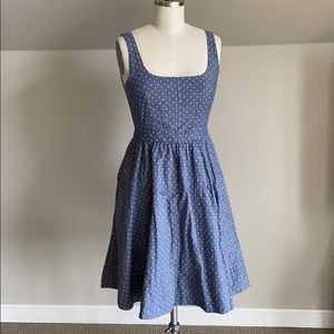 Marc By Marc Jacobs Blue and Yellow Polkadot Dress